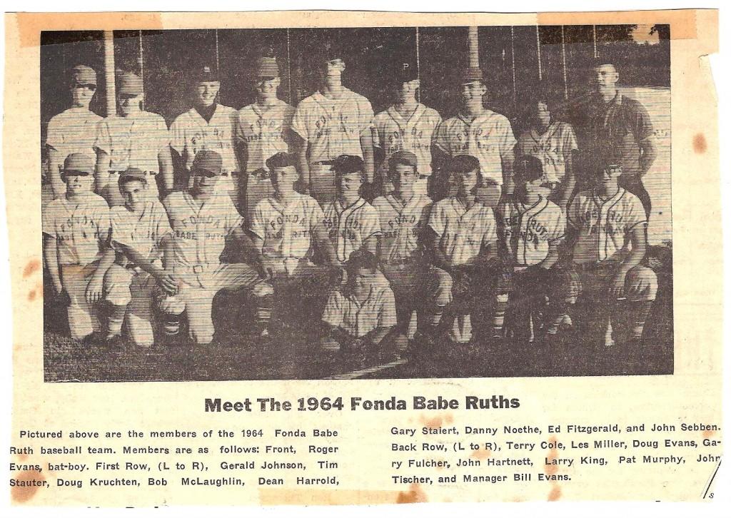 Fonda Baseball Team 1964
