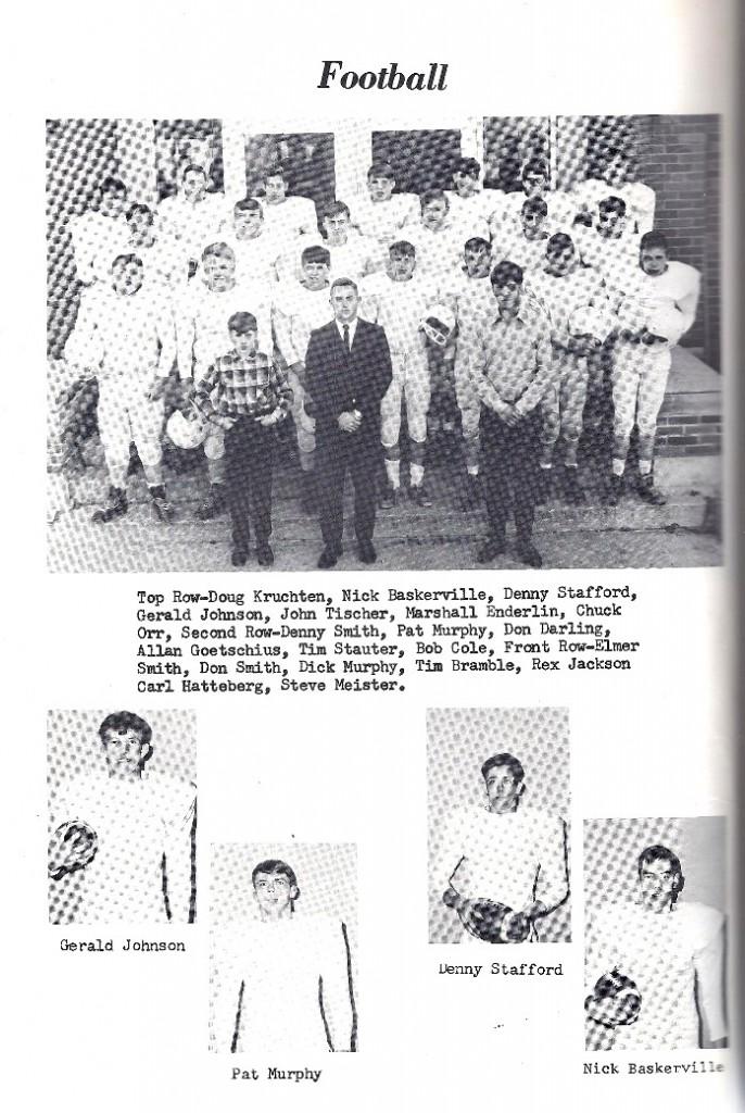 1967 Footbal Team, Fonda Iowa