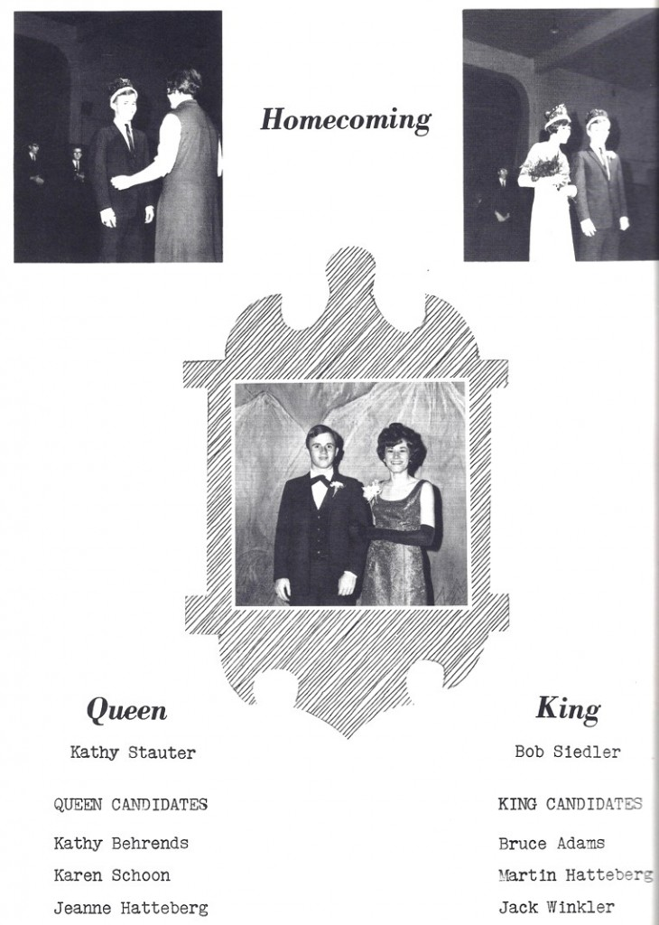 Homecoming King and Queen- The Fonda Flyers 1966
